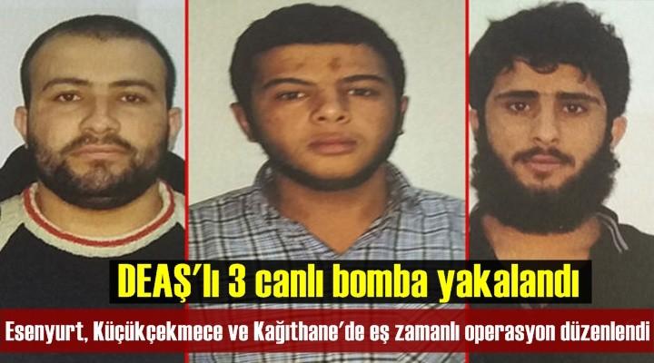 DEAŞ'lı 3 canlı bomba yakalandı