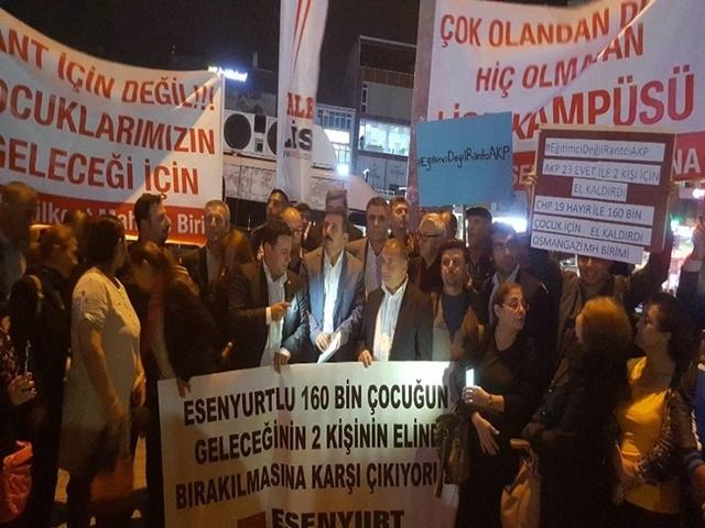 CHP Esenyurt 25 Dönüm Arsa için Basın Açıklaması yaptı