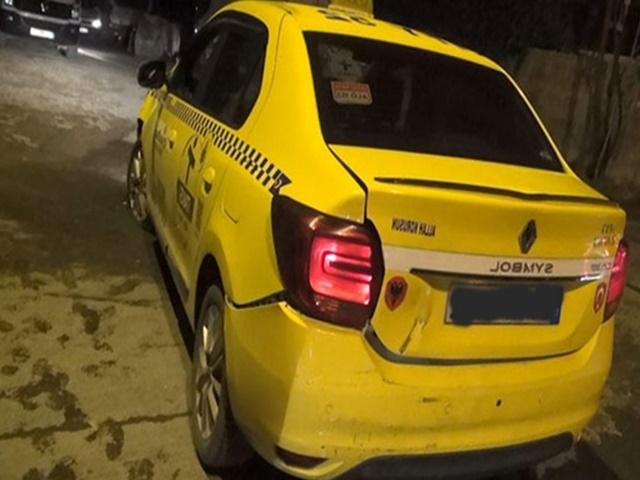 Polisten kaçan taksi lastiklerine ateş açılarak durduruldu