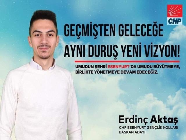 CHP Esenyurt Gençlik Kolları Başkanı Aktaş oldu