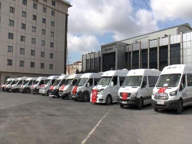Servis şoförlerinden Esenyurt'ta İdlip şehitleri için konvoy