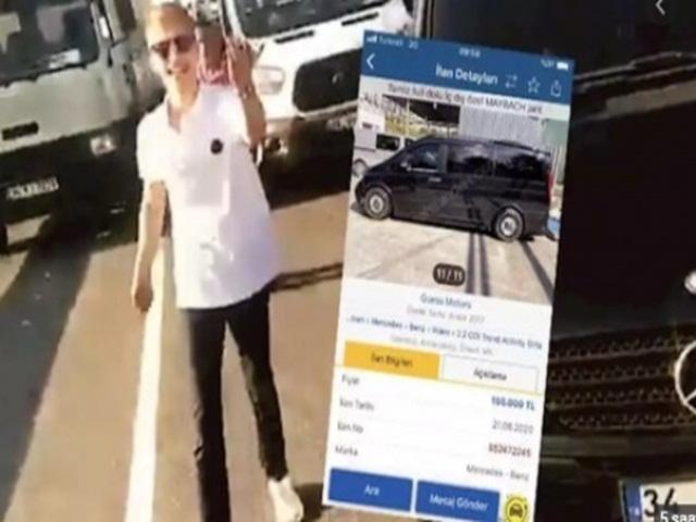 Trafikte dehşet saçan çakarlı maganda aracını satışa çıkardı