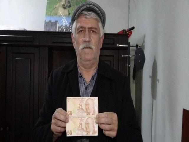 Mehmet Çimli 'Hatalı basım' 50 lirayı, 50 bin TL'ye satışa çıkardı