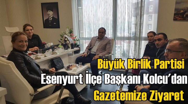 Başkan Kolcu'dan Gazetemize ziyaret