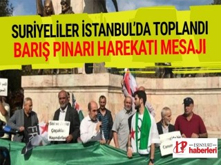 Suriyeliler İstanbul'da toplandı!