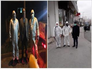 Örnek ve Çınar Mahallesi'nde Cadde ve Sokakları Virüse Karşı İlaçlandı