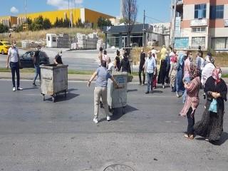 Esenyurt'ta yolu kapatıp protesto ettiler!