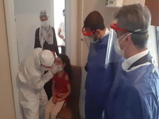Kaymakam Karagül ve İlçe Sağlık Müdürü Dokuz'dan filyasyon ziyareti