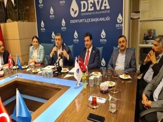 """Başkan Bozkurt: """"DEVA Partisinin insanlara derman olmasını diliyorum"""""""