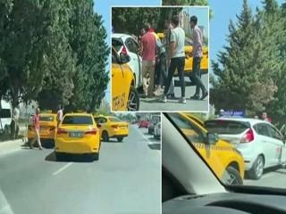 Esenyurt'ta Taksiciler kadın sürücü adayının yolunu kesti, dehşeti yaşattı