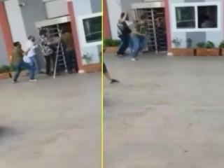 Esenyurt'ta yabancı uyruklu 3 kişi tartıştıkları sitenin güvenlik görevlilerine sopayla saldırdı