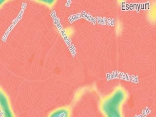 İstanbul'da birçok ilçe kırmızıya döndü: Esenyurt, Avcılar, Fatih, Esenler, ve Bağcılar zirvede
