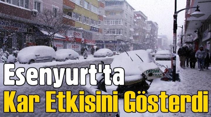 Esenyurt'ta kar etkisini gösterdi