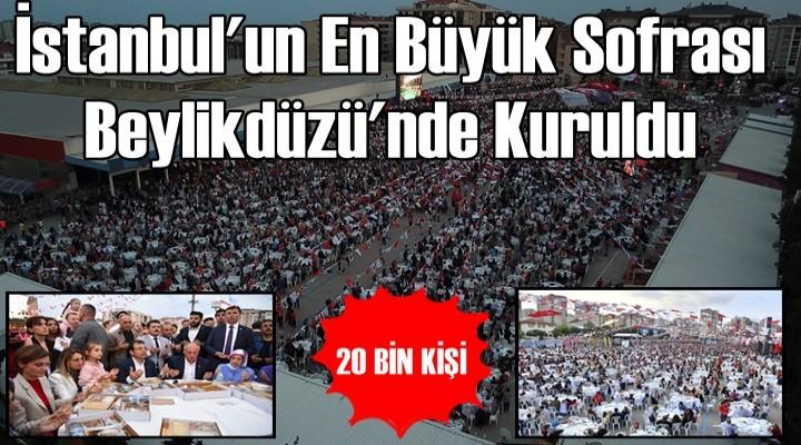 İstanbul'un En Büyük Sofrası Beylikdüzü'nde Kuruldu