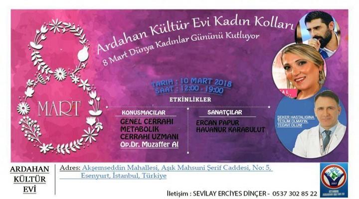 Ardahan Kültür Evi'nden 10 Mart'ta davet var!