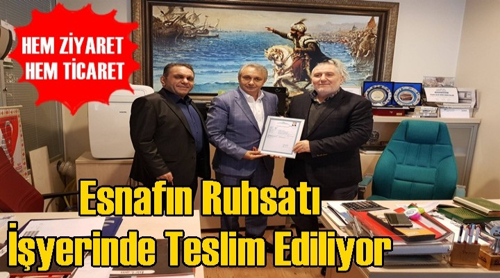 Başkan Yardımcısı Togay Çoban'dan esnafa ruhsat ziyareti