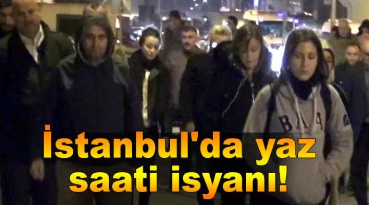 İstanbul'da yaz saati isyanı