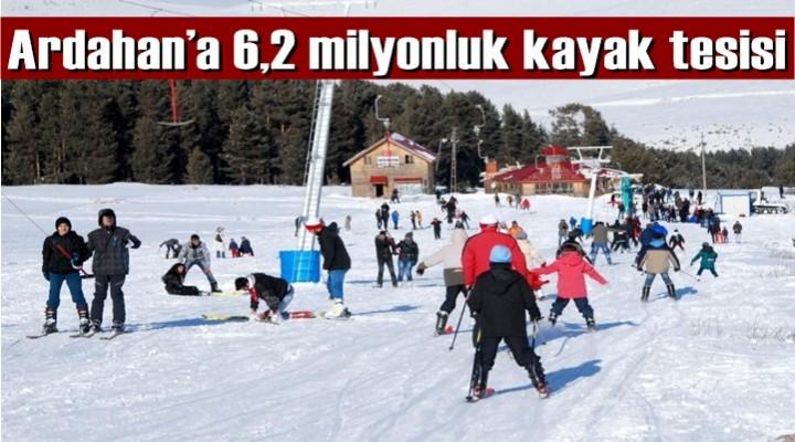 Ardahan'a 6,2 milyonluk kayak tesisi