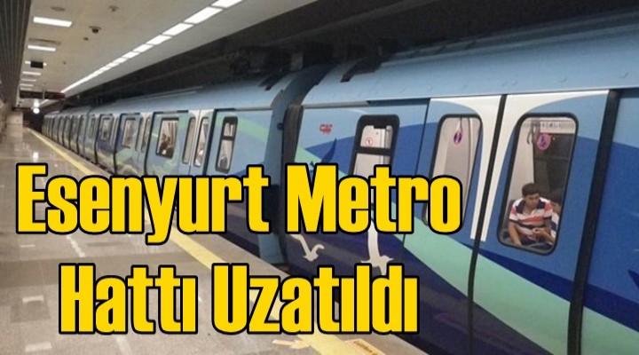 Esenyurt metro hattı uzatıldı