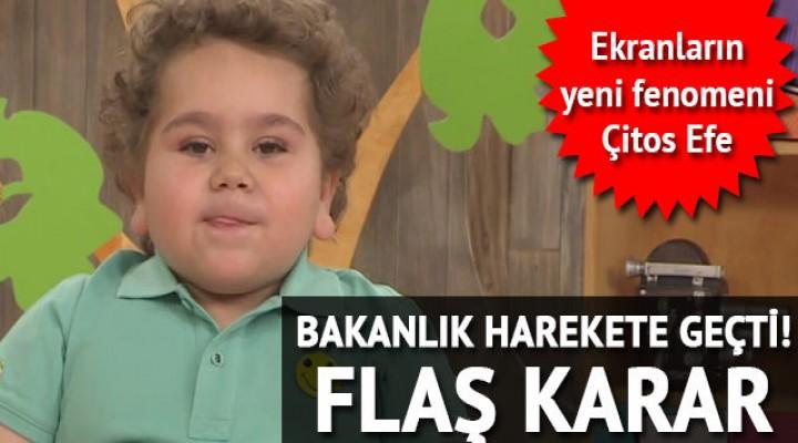 Bakanlıktan 'Çitos Efe' kararı