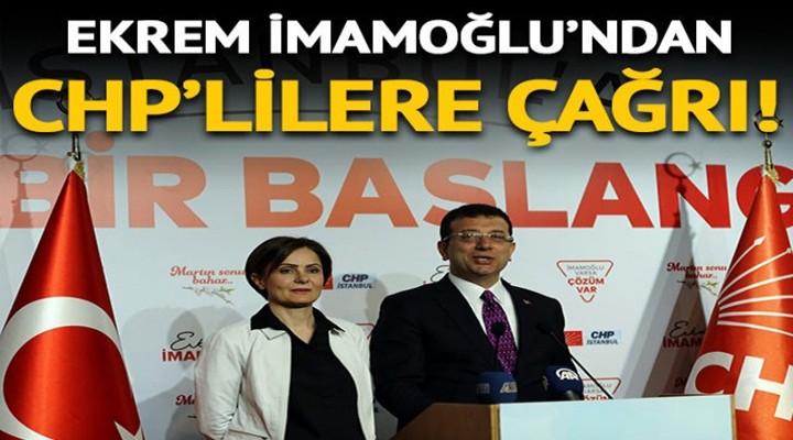 Ekrem İmamoğlu'ndan bir açıklama daha: Bütün CHP'liler seçim kurullarında nöbete gelsin