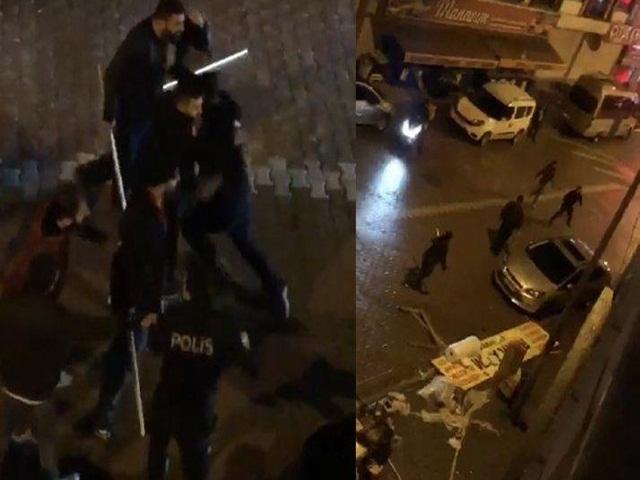 Esenyurt'ta Önce iş yeri bastılar sonra polise saldırdılar