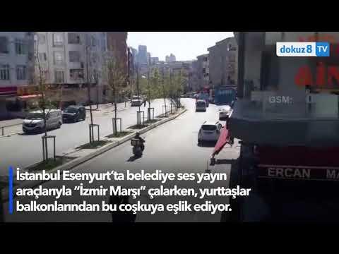 """Esenyurt'ta """"İzmir Marşı""""yla 23 Nisan kutlaması"""