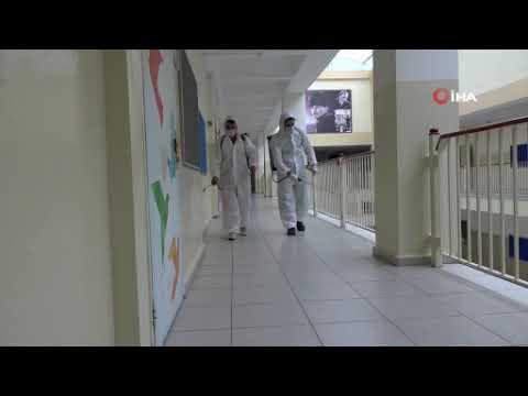 Esenyurt'ta LGS sınavı öncesi okullar dezenfekte edildi