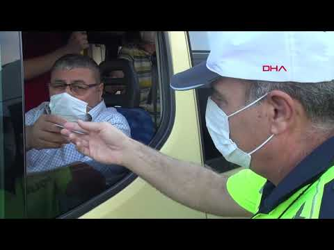 Esenyurt'ta maskeyi koluna takan minibüs şoförüne 900 tl ceza